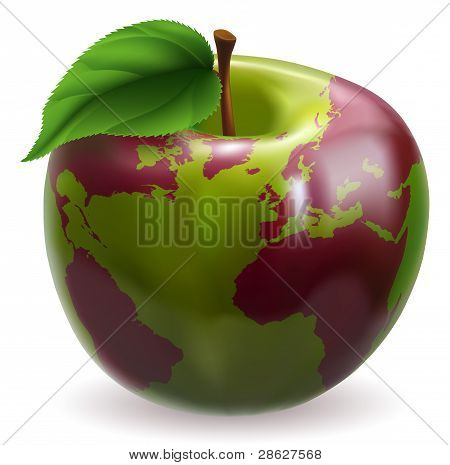 Apple World Globe