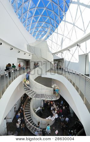 ST. PETE, FLORIDA - DECEMBER 29: Interior of Salvador Dali Museum December 29, 2011 in St. Pete, FL. The museum houses the largest collection of Dali works outside of Europe.