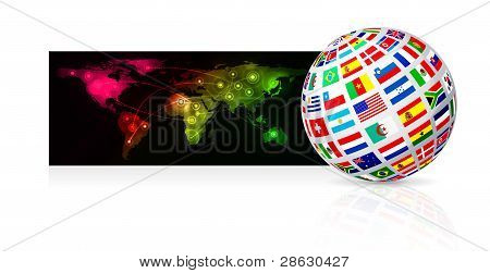Globe frome flag
