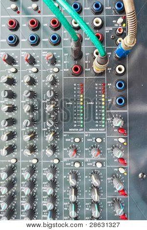Close Up Photos Of Mixing Desk
