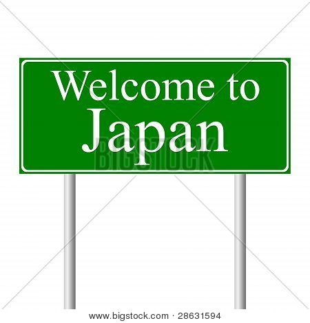 Welcome to Japan, concept road sign