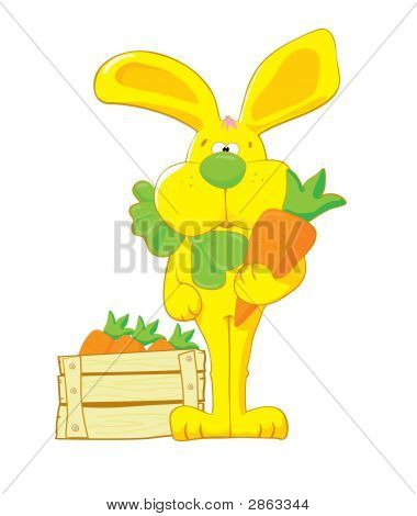 Yellow Hare With Carrot