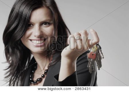 Woman With Keys