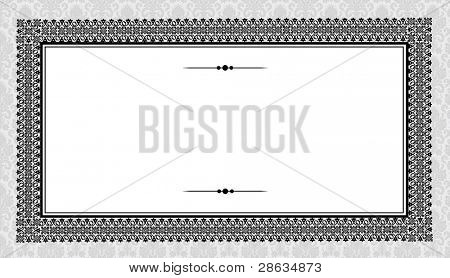 Vector Heavy Frame and Victorian Background. Easy to edit. Perfect for invitations or announcements.