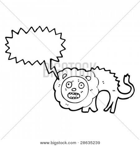 cowardly lion cartoon