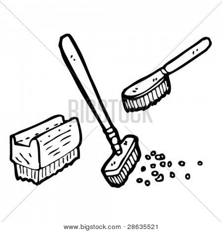 cleaning brushes cartoon collection