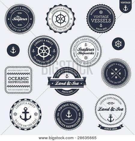 Etiquetas náuticas Vintage