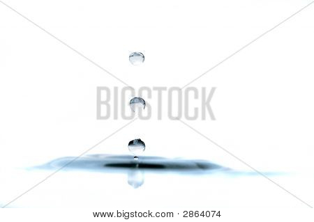 Drops Of Water Isolated Over White