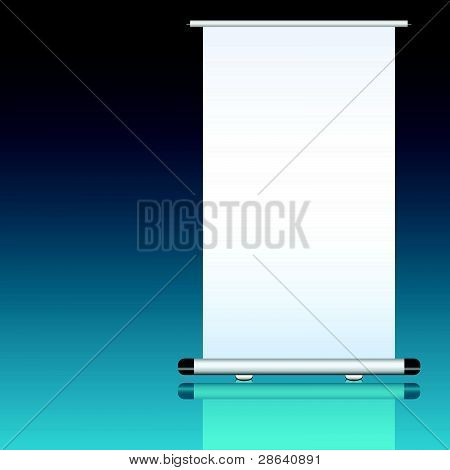 Roll Up With White Background
