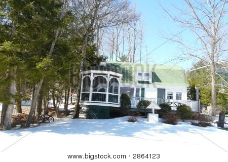 Pretty Home With Gazebo Porch
