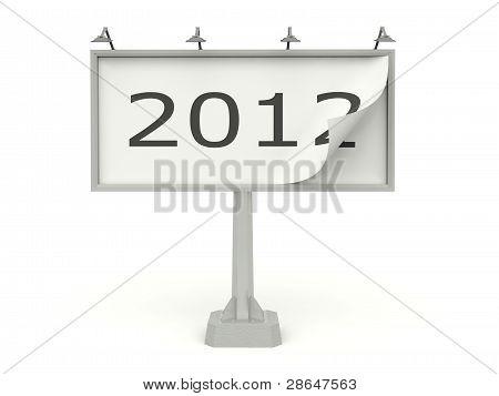 Plakat mit 2012 Neujahr Zeichen