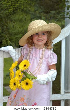 Brimmed Straw Hat And Child