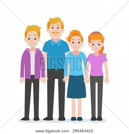 Set Of People Character Family