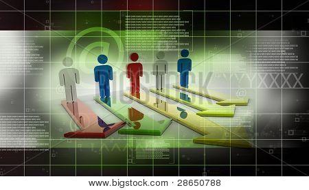 Man and Multidirectional Arrow