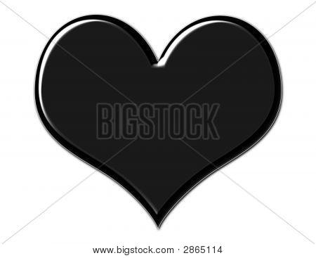 Gorgeous Black Heart
