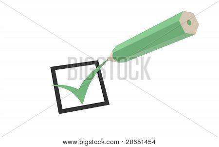 Markierung und einen Bleistift