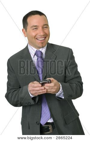 Smiling Businessman With Pda