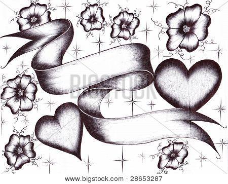 Hearts Love Scroll