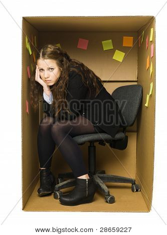 Depressed Office Woman