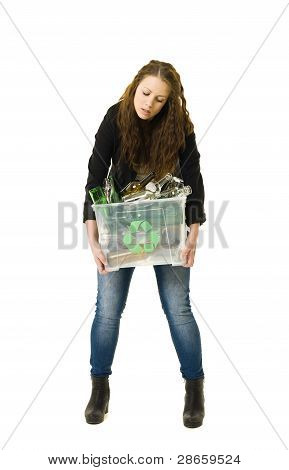 Glass Recycling Woman