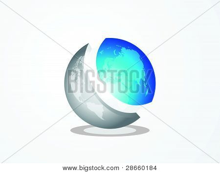 Abstract 3d vector