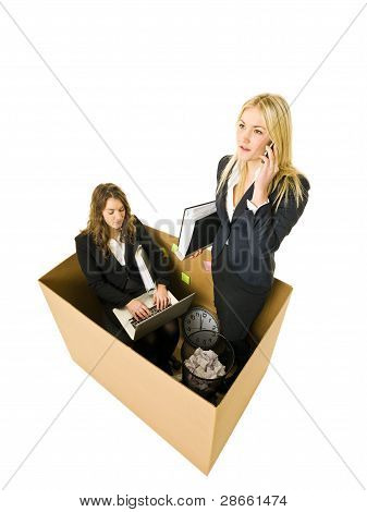 Women In A Small Office