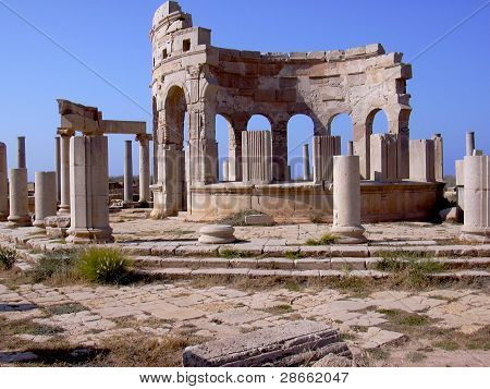 Marketplace At Leptis Magna Roman Ruins, Libya