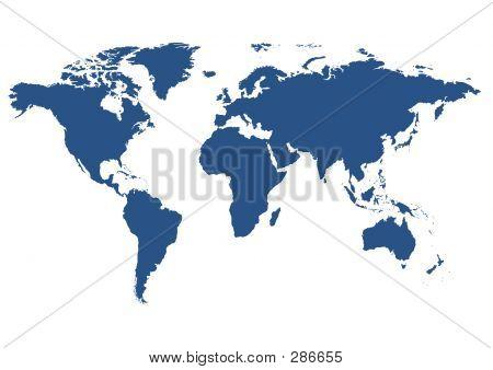 Isolated World Map