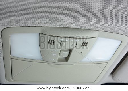 Illuminating control inside a car