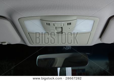 Illuminating control inside a car