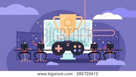 Esports Vector Illustration Flat Tiny