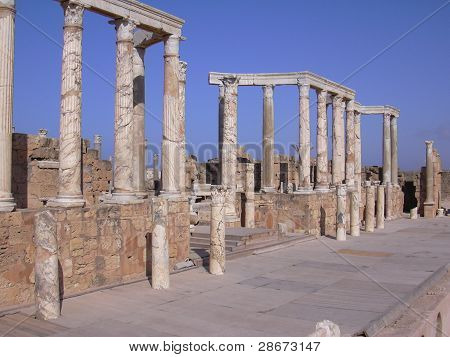 The Theater At Leptis Magna Roman Ruins, Libya