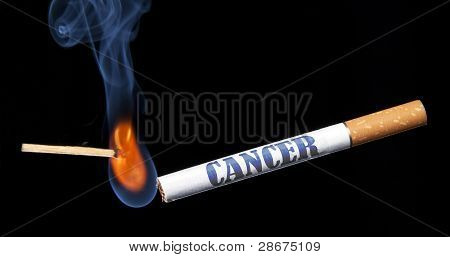 Closeup Lighting Cigarette