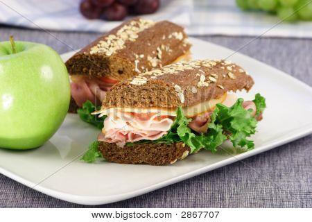 Weizenbrot sandwich