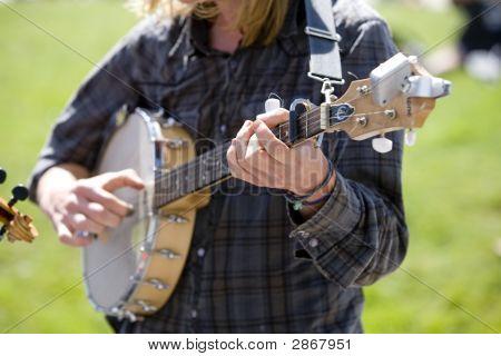 Banjo Playing Street Musician