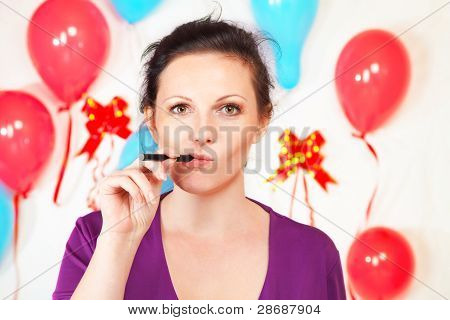 Woman With Electronic Cigarette