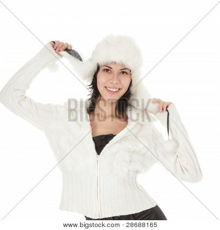 Beautiful Winter Young Woman