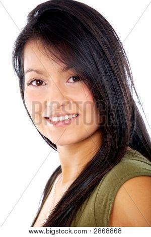 Bela mulher sorridente