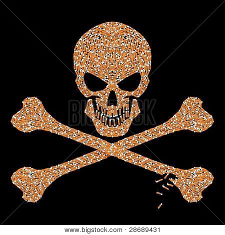 Jolly Roger Cigarette Butts