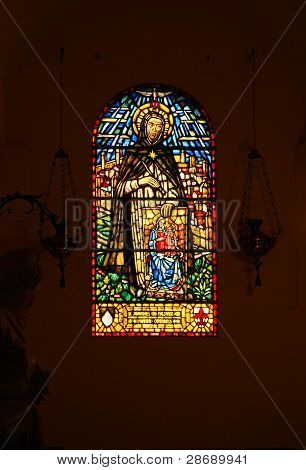 Stained Glass In Basilica Of St. Peter, Vatican, Rome