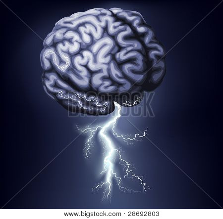Brain Storm Illustration