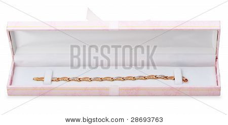 Gold Bracelet In Gift Packing