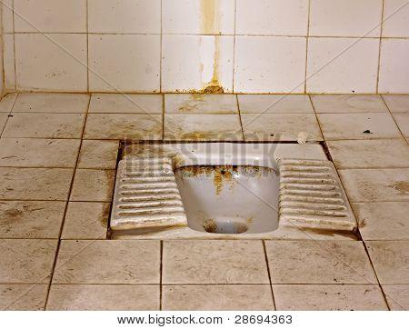 Dirty Squat Type Toilet
