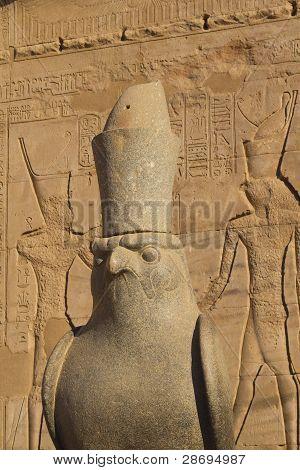 Statue in Edfu temple (Egypt)