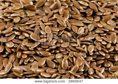 A Close-Up Picture Of Some Flax-Seed