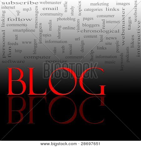 Blog Word Cloud Red And Black