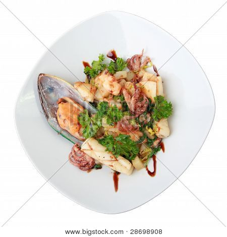 Seafood Salad With Potatoes