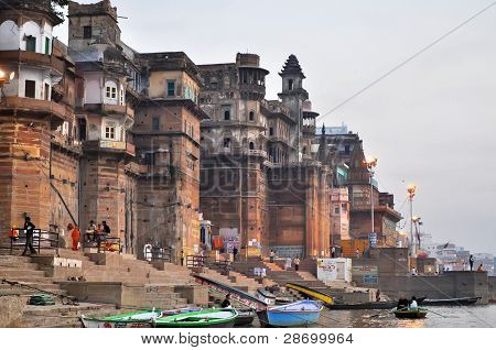Ghat In Varanasi, India