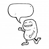 foto of bigfoot  - bigfoot with speech bubble - JPG