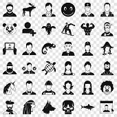 Private Icons Set. Simple Style Of 36 Private Vector Icons For Web For Any Design poster